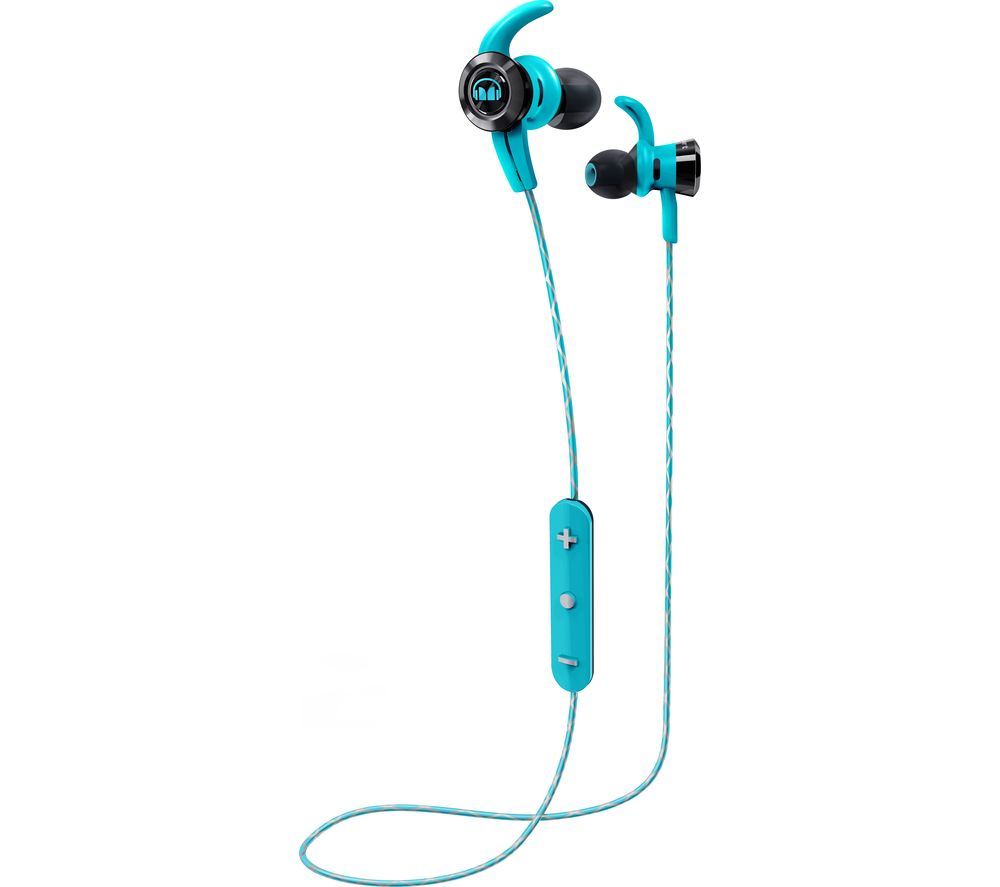 Click to view more of BLUE MONSTER  iSport Victory In-Ear Wireless Bluetooth Headphones - Blue, Blue