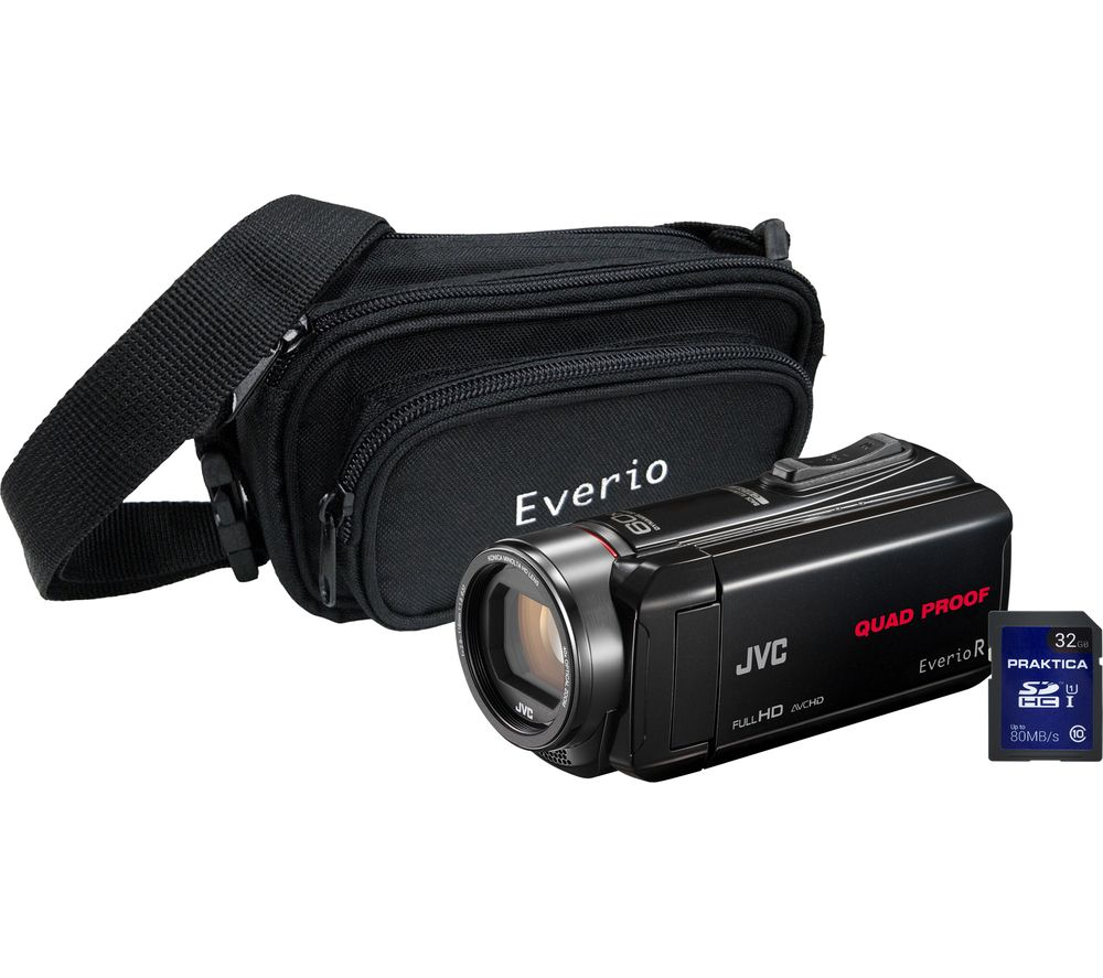JVC GZ-R435 Camcorder, Bag & 32 GB SD Card Kit - Black