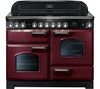 RANGEMASTER Classic Deluxe 110 Electric Ceramic Range Cooker -  Cranberry & Chrome