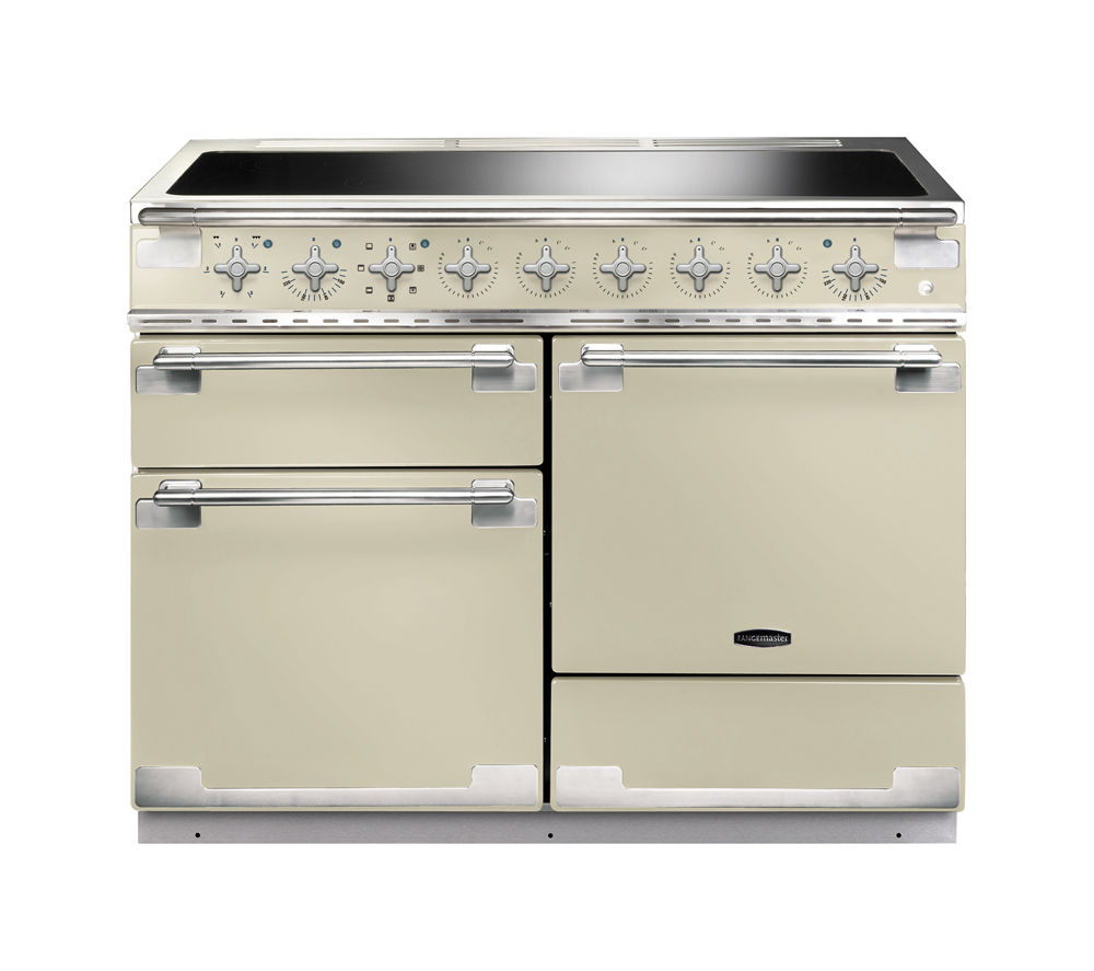 buy rangemaster elise 110 electric induction range cooker cream chrome free delivery currys. Black Bedroom Furniture Sets. Home Design Ideas