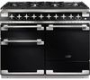 RANGEMASTER Elise 110 Dual Fuel Range Cooker - Black & Chrome