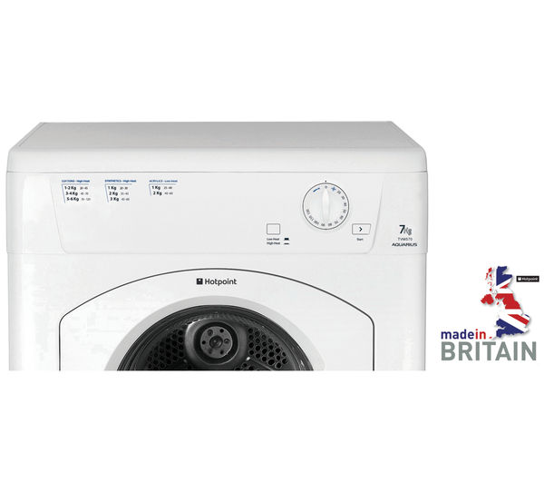 Buy Hotpoint Aquarius Tvm570p Vented Tumble Dryer White