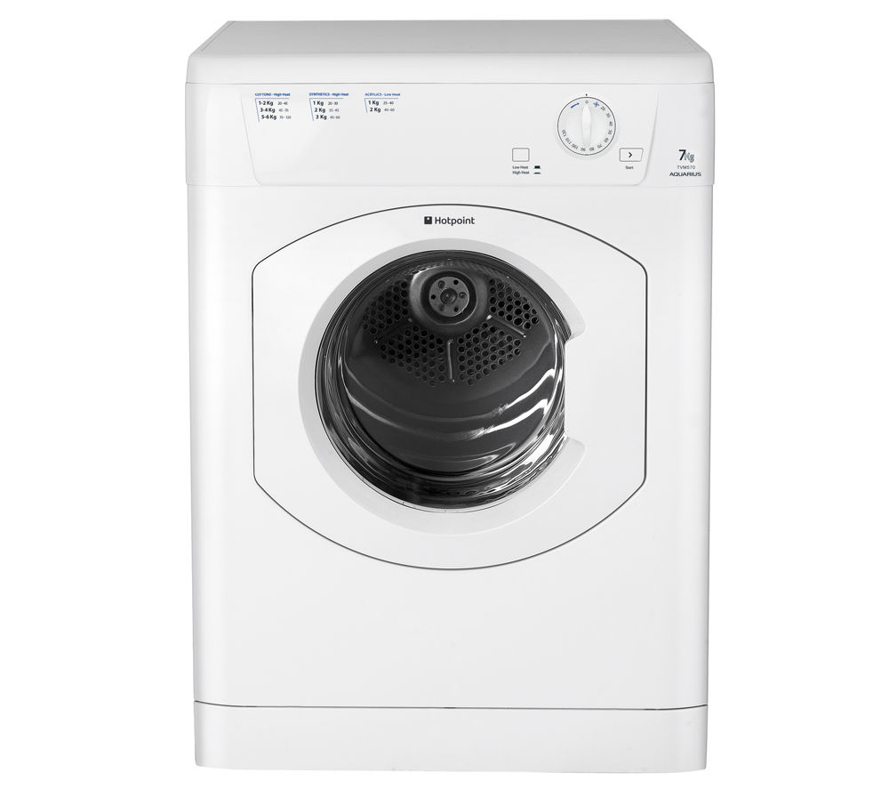 HOTPOINT  Aquarius TVM570P Vented Tumble Dryer - White +  Aquarius FDAL11010P Full-size Dishwasher - White