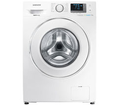 SAMSUNG ecobubble WF90F5E5U4W Washing Machine - White