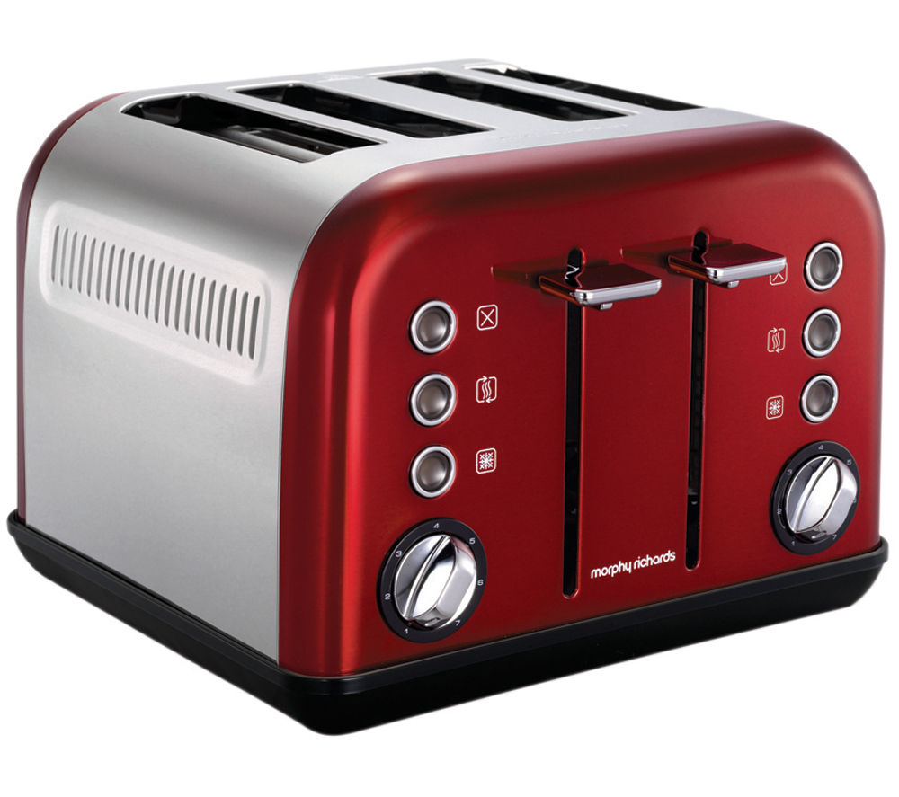 buy morphy richards accents 242004 4 slice toaster red. Black Bedroom Furniture Sets. Home Design Ideas