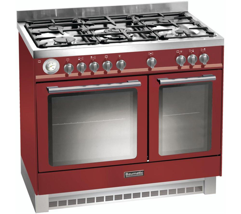 Image of BAUMATIC BCD925BDY Dual Fuel Range Cooker - Burgundy