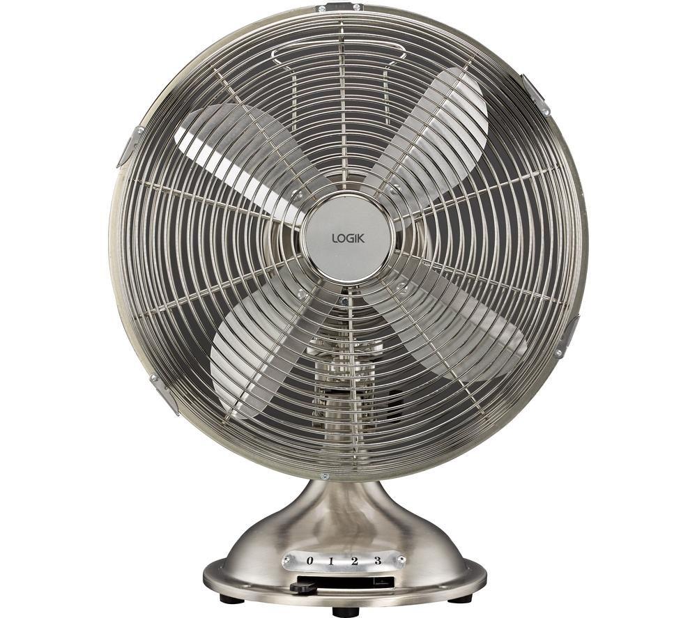 Home Cooling Fans : Buy logik l dfss quot desk fan brushed steel free