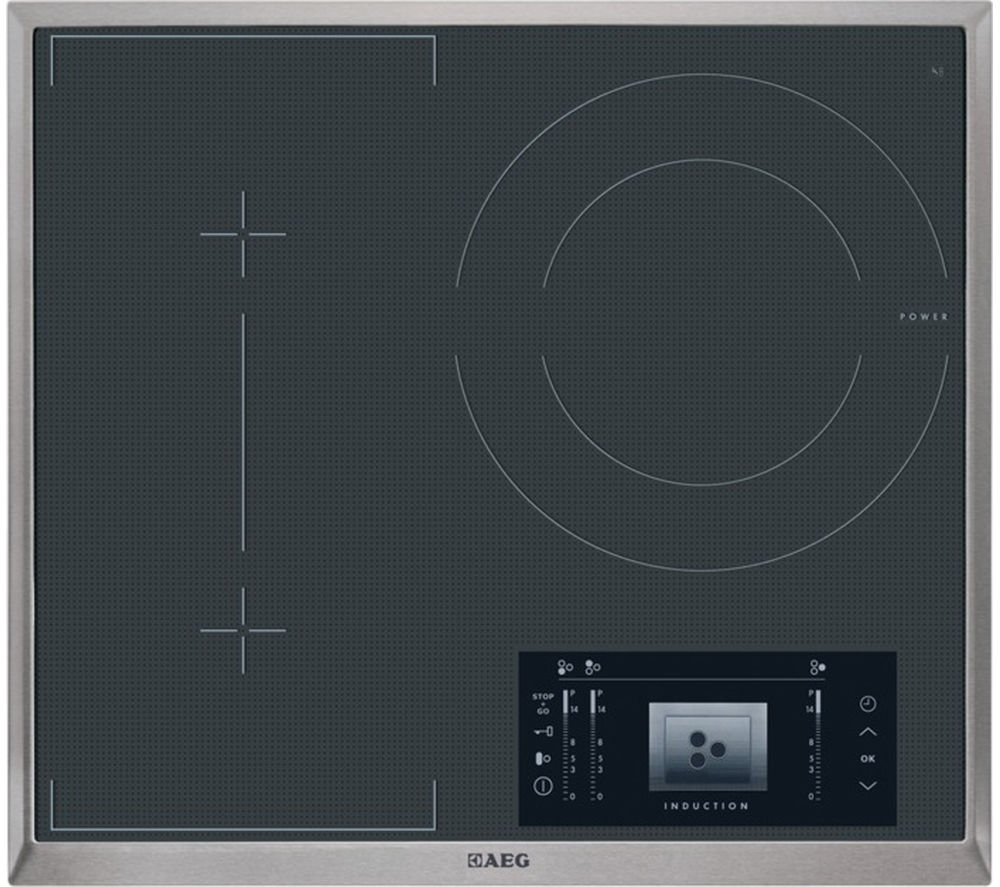 AEG HK683320XG Electric Induction Hob - Black + BP730402KM Electric Oven - Stainless Steel