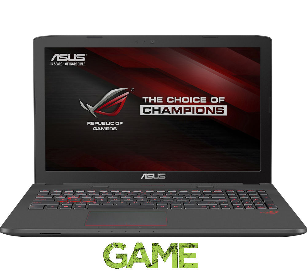 """ASUS  Republic of Gamers GL752 17.3"""" Gaming Laptop - Grey +  LiveSafe Unlimited 2016"""