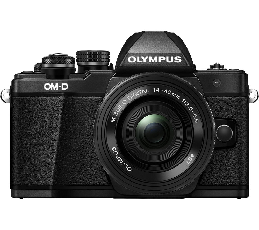 OLYMPUS E-M10 Mark II Compact System Camera with 14-42 mm f/3.5-5.6 EZ Zoom Lens