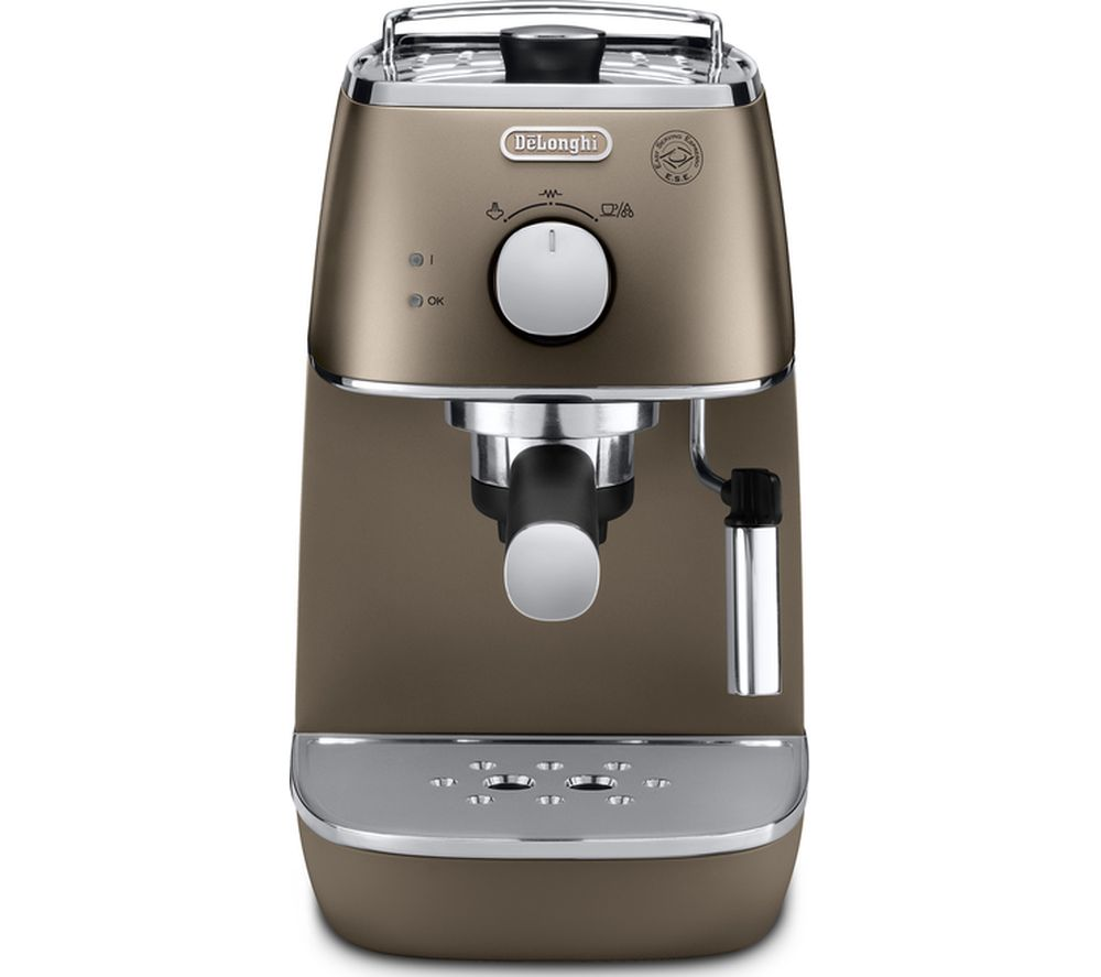 DELONGHI  Distinta ECI341.BZ Coffee Machine - Bronze +  Distinta KBI3001.BZ Jug Kettle – Bronze