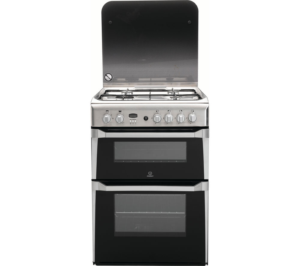 indesit id60g2x 60 cm gas cooker stainless steel