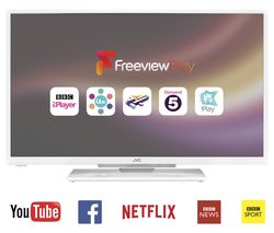"JVC LT-32C661 Smart 32"" LED TV - White"