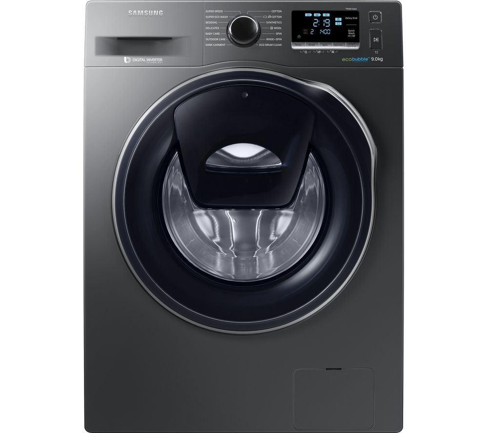 SAMSUNG AddWash WW90K6414QX/EU Washing Machine - Graphite