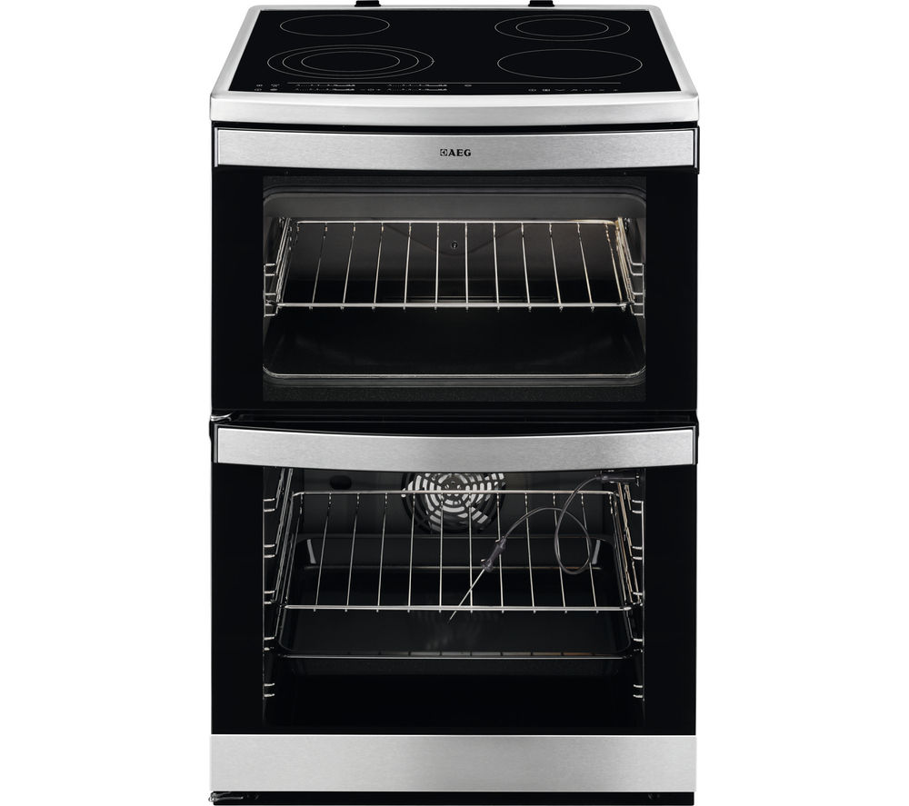 Image of AEG 49176V-MN 60 cm Electric Ceramic Cooker - Stainless Steel, Stainless Steel