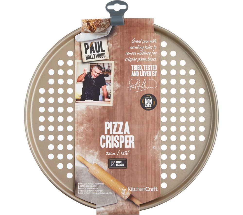 Image of PAUL HOLLYWOOD 32 cm Non-stick Pizza Crisper - Gold, Gold