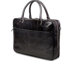 "DBRAMANTE Amalienborg 16"" Leather Laptop Case - Black"