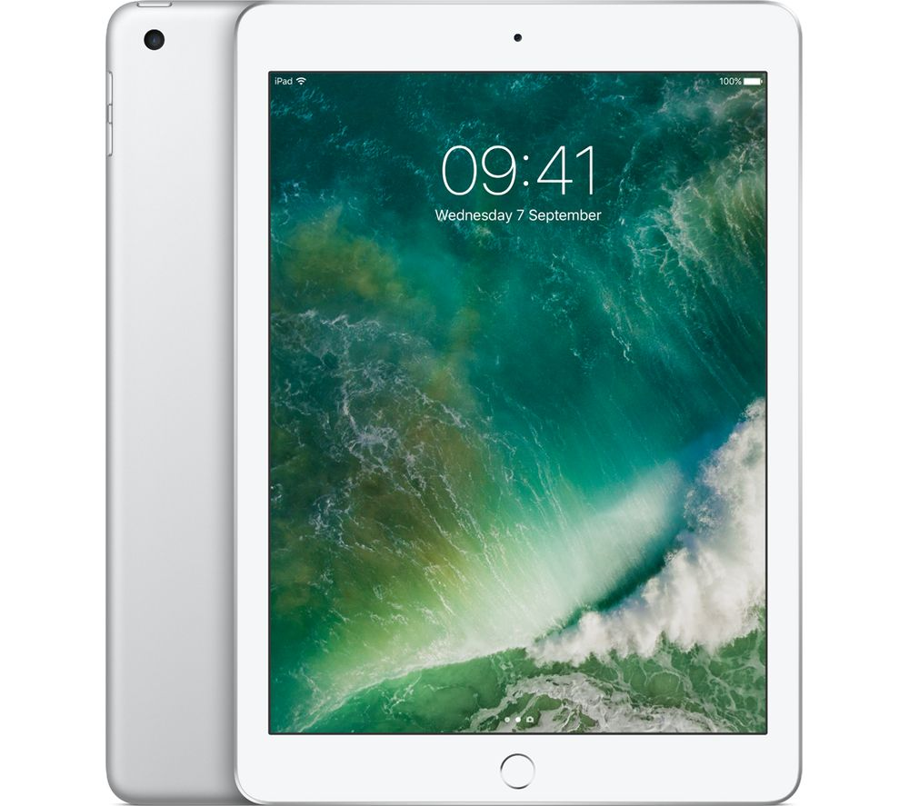"APPLE 9.7"" iPad Cellular - 128 GB, Silver"