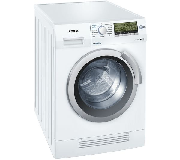 siemens iq700 wd14h520gb washer dryer white white tambee. Black Bedroom Furniture Sets. Home Design Ideas