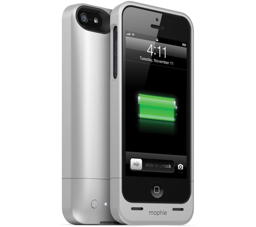 Mophie Juice Pack Helium Iphone 5 Charging Case Silver