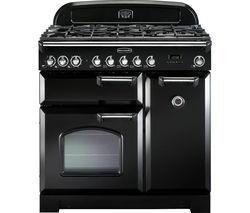 RANGEMASTER Classic Deluxe 90 Dual Fuel Range Cooker - Black & Chrome