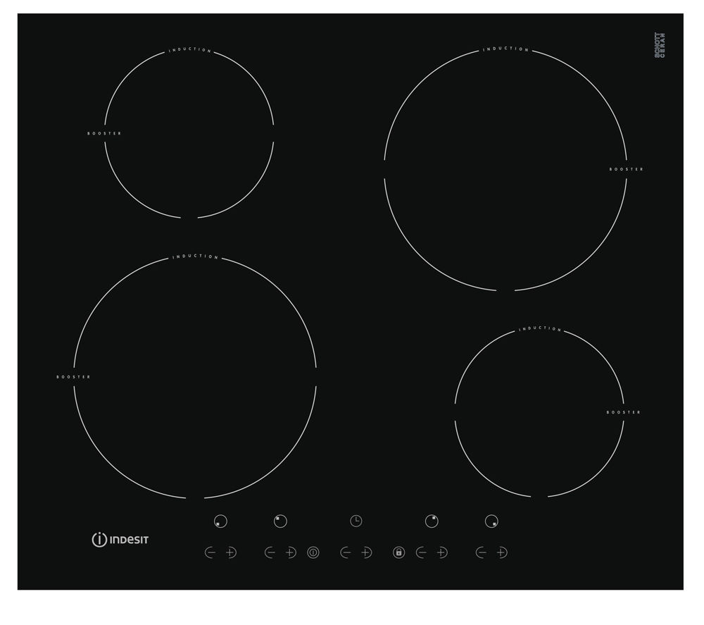INDESIT VIX644 CE Induction Hob - Black