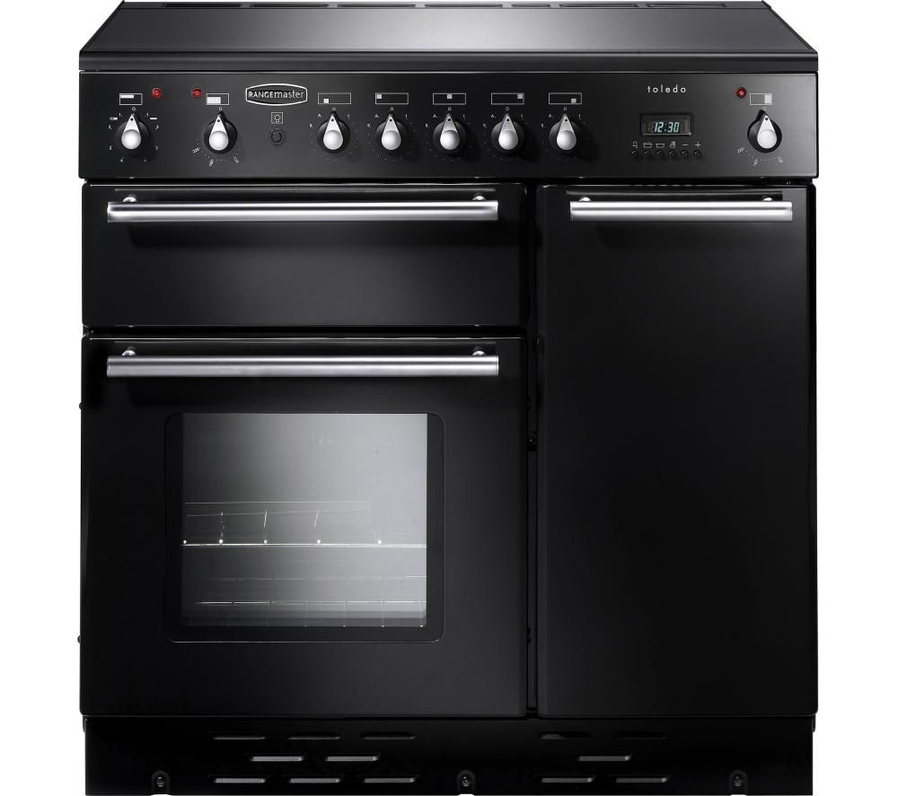 RANGEMASTER Toledo 90 Electric Ceramic Range Cooker - Black & Satin