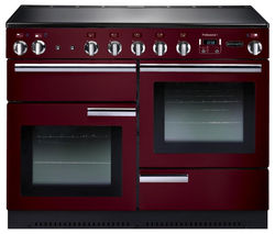 RANGEMASTER Professional+ 110 Electric Induction Range Cooker - Cranberry & Chrome
