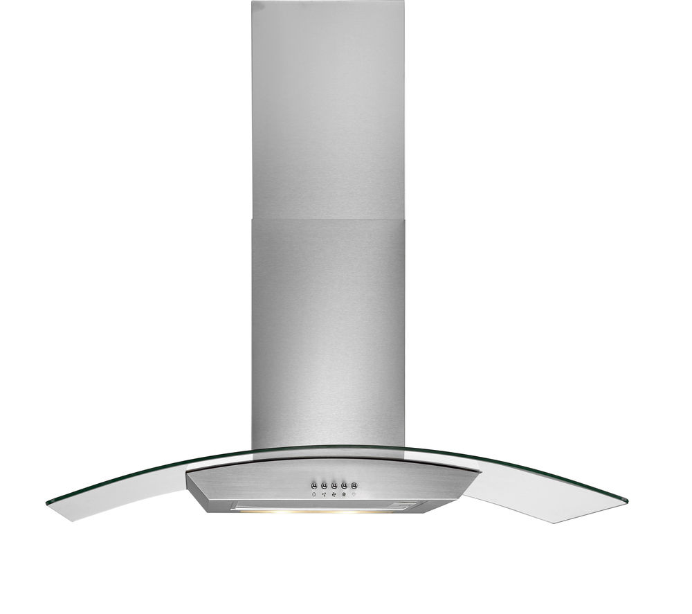 LOGIK L90CHDG14 Chimney Cooker Hood - Stainless Steel