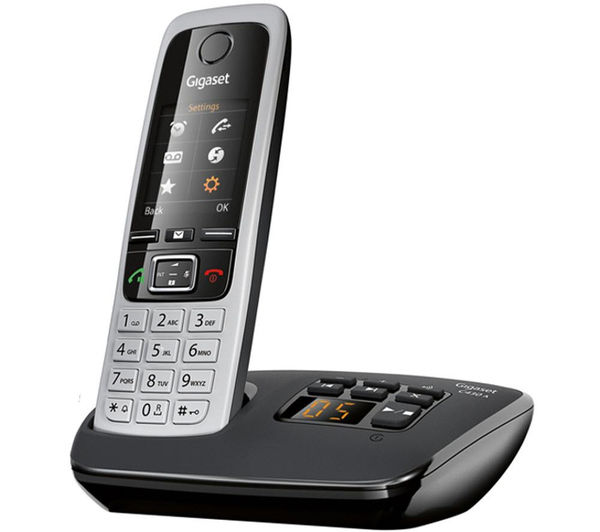 gigaset c430a trio cordless phone with answering machine triple handsets deals pc world. Black Bedroom Furniture Sets. Home Design Ideas