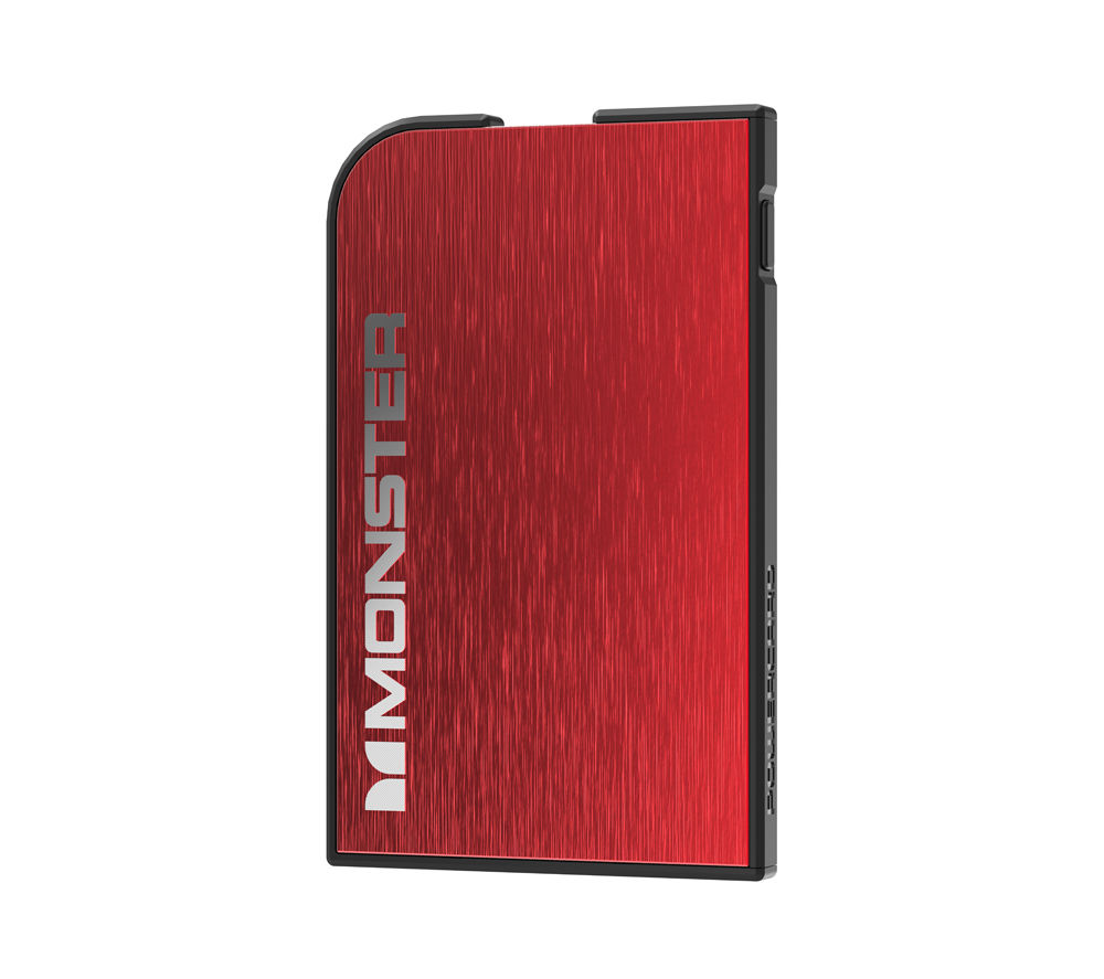 MONSTER Mobile PowerCard Rechargeable Portable Battery - Red