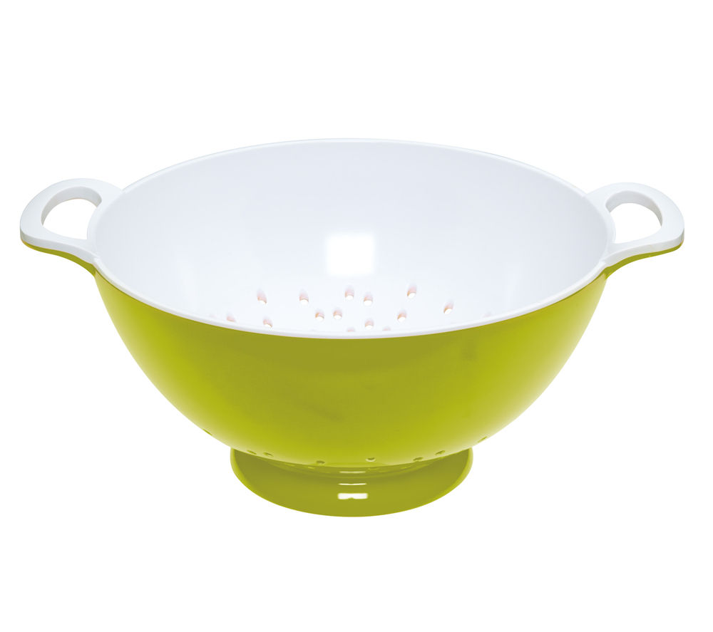 COLOURWORKS Large 24 cm Colander - Green & White