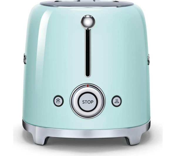 SMEG TSF01PGUK 2 Slice Toaster  Pastel Green  Free Delivery  Currys