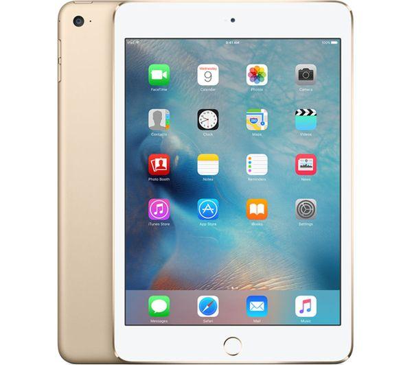 An image of APPLE iPad mini 4 - 64 GB, Gold