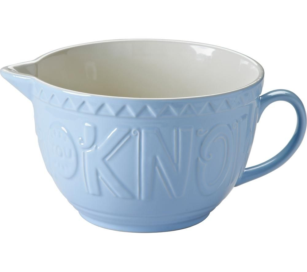 MASON CASH  Bake My Day Batter Bowl  Blue Blue