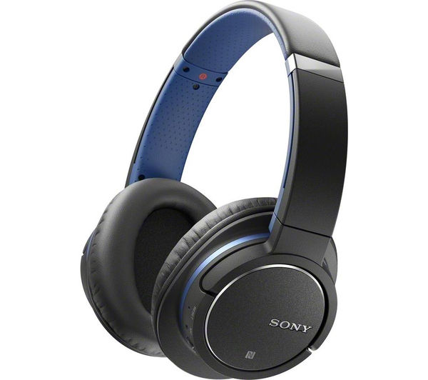 Image of SONY MDR-ZX770BNL Wireless Bluetooth Noise-Cancelling Headphones - Blue