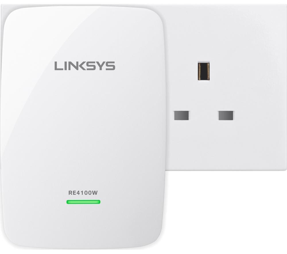 LINKSYS RE4100W-UK WiFi Range Extender - N600, Dual-band