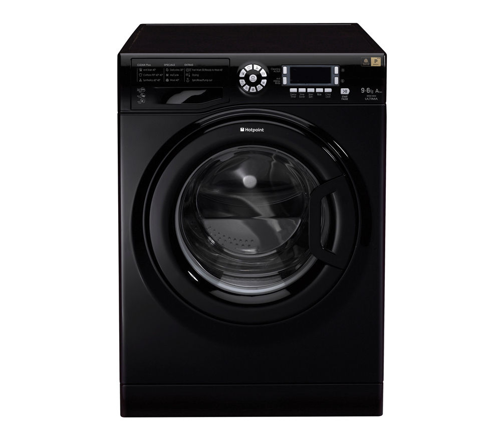 HOTPOINT  WDUD9640K Washer Dryer  Black Black