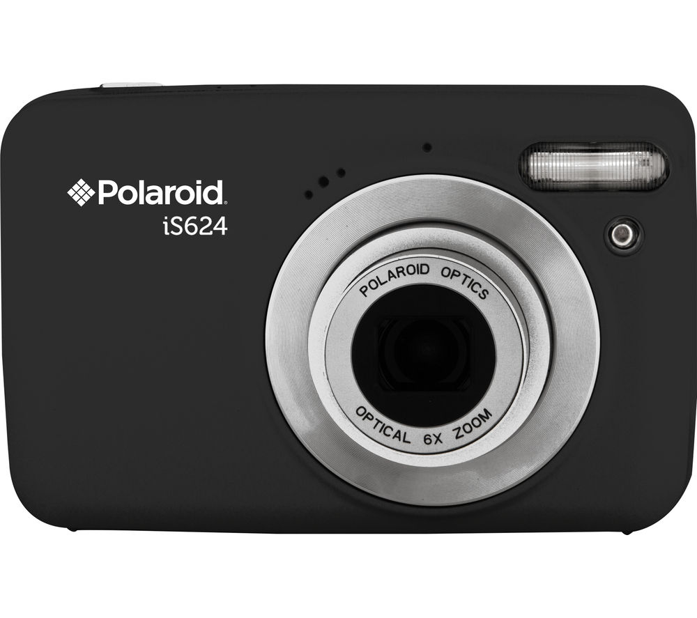 polaroid is624 compact camera black deals pc world. Black Bedroom Furniture Sets. Home Design Ideas