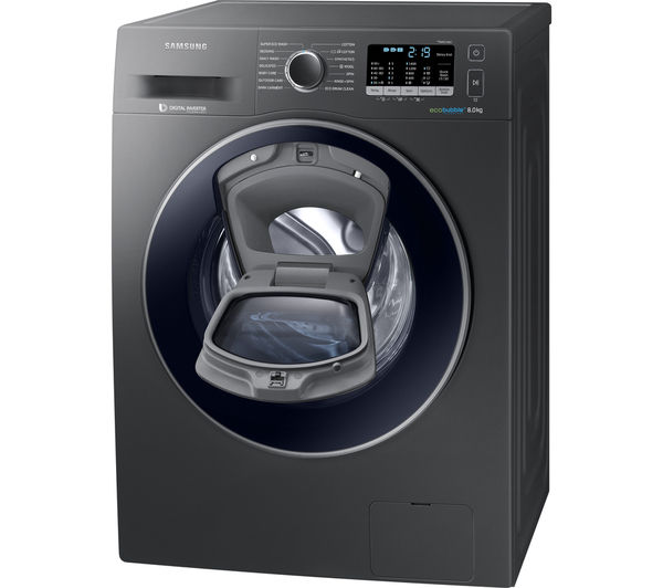 buy samsung addwash ww80k5410ux washing machine graphite free delivery currys. Black Bedroom Furniture Sets. Home Design Ideas