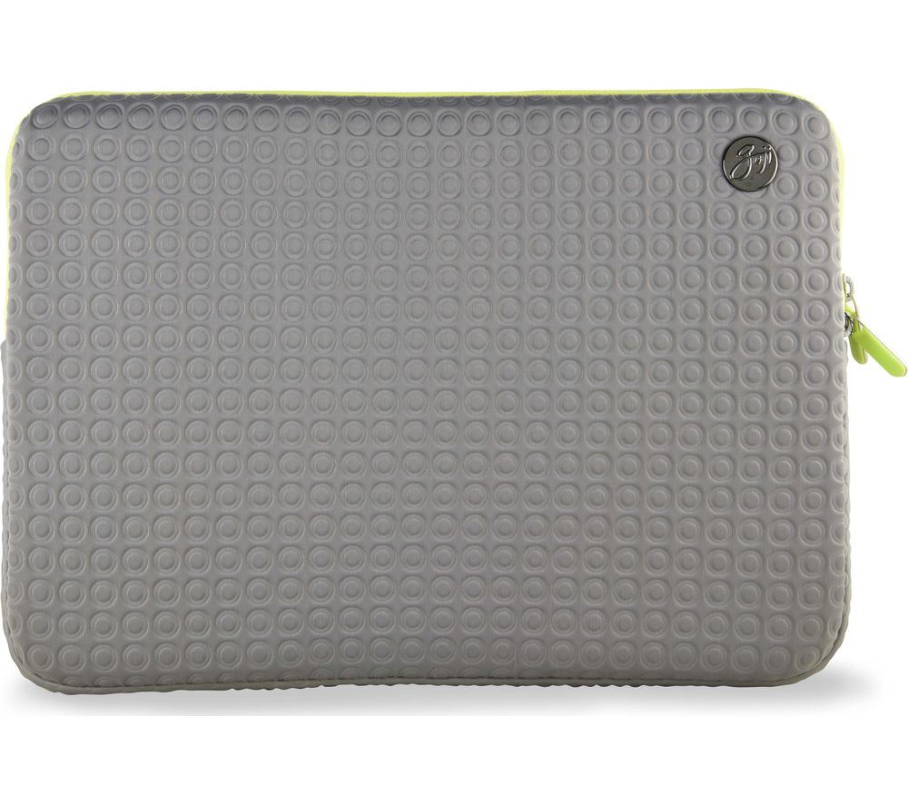 "Goji GSMGY1516 15"" MacBook Pro Sleeve - Grey & Green, Grey"