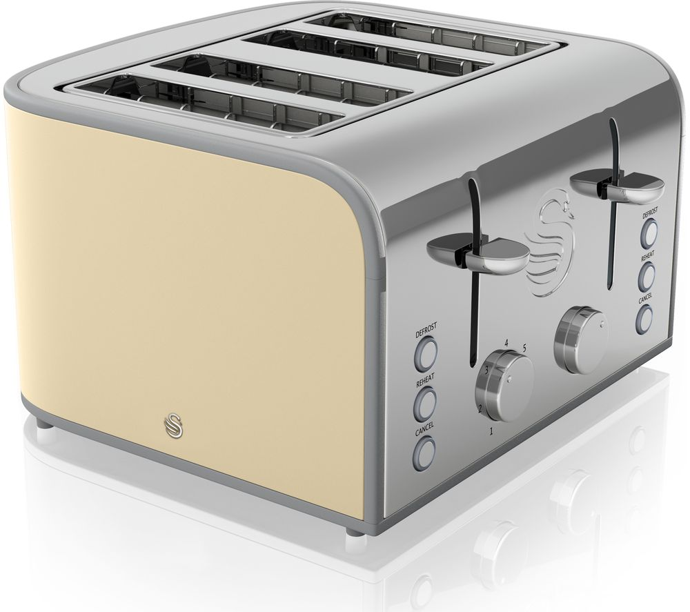 buy swan retro st17010cn 4 slice toaster cream free delivery currys