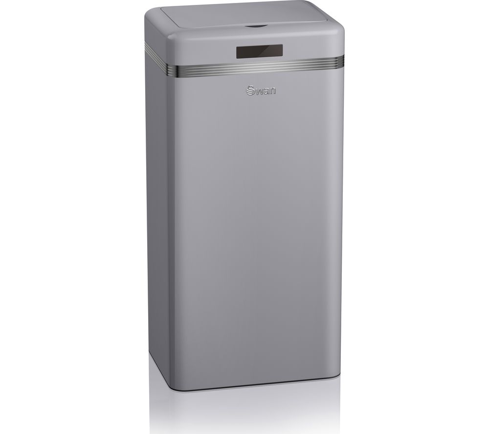 Buy SWAN Retro 45-litre Rectangular Bin - Grey
