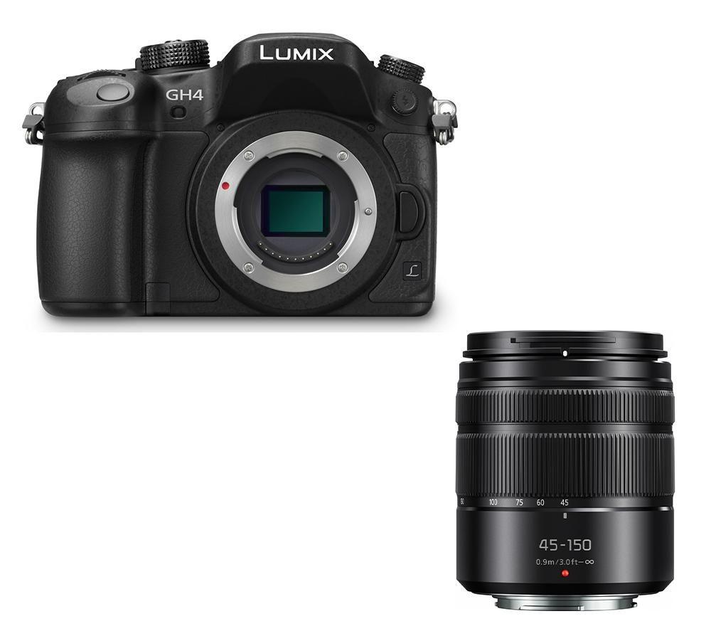 PANASONIC Lumix DMCGH4REK Mirrorless Camera & 45150 mm f4.05.6 Lens Bundle