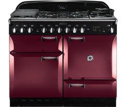 RANGEMASTER Elan 110 Dual Fuel Range Cooker - Cranberry