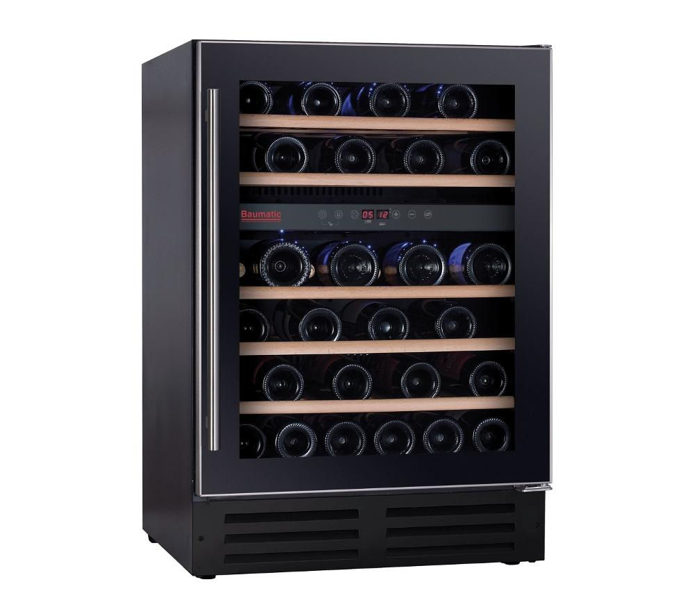 Buy Baumatic Bwc605ss Built In Wine Cooler Black Free