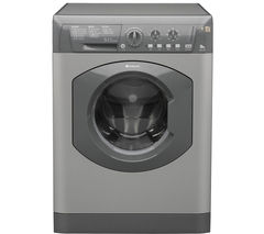 HOTPOINT HE8L493G Washing Machine - Graphite