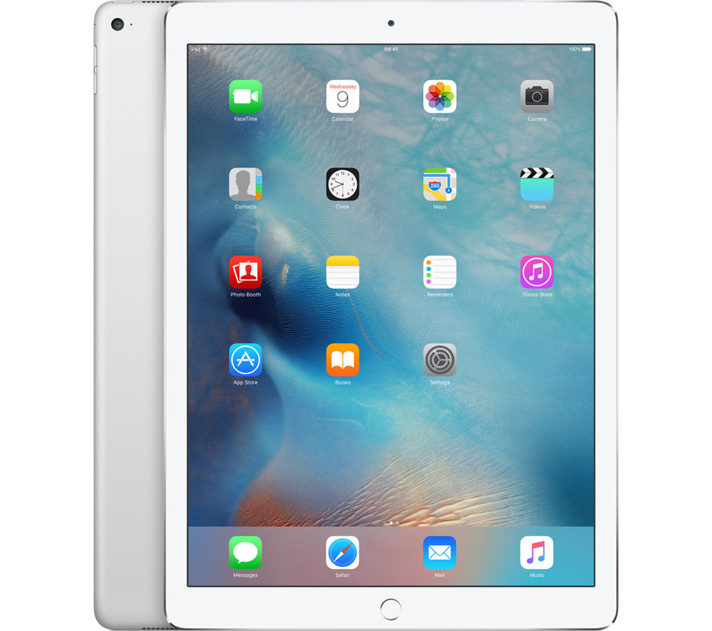 "APPLE  12.9"" iPad Pro - 128 GB, Silver +  Pencil - White"