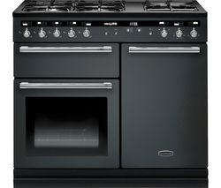 RANGEMASTER Hi-LITE 100 Dual Fuel Range Cooker - Slate & Chrome