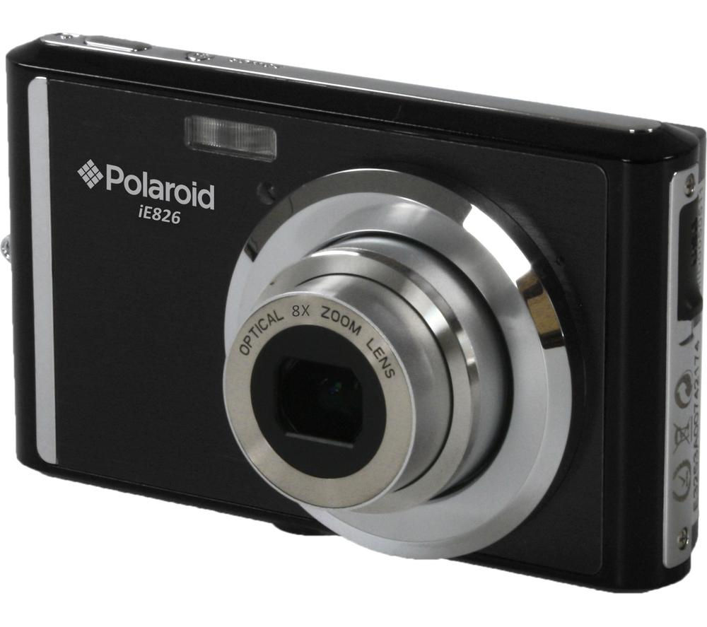 POLAROID  IE826 Compact Camera - Black +  Hard Shell Camera Case - Black